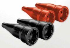 AS Schwabe Rubberen stekker 2-pool, IP20-beveiliging, 2 stuks, rood