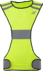 Gele Rucanor Safety Running Vest X - Veiligheidshesje - Fluor Geel - Reflectie - Maat L
