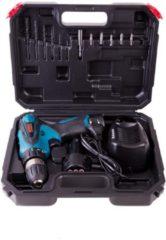 BOXER TOOLS Boxer Accuboormachine Set - 18V Lithium - Met Extra Accu - Inclusief Boren & Bitjes