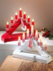 2er Set LED Pyramiden Boltze weiß/rot