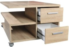 FD Furniture Salontafel Pia 92 breed in eiken