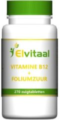 Elvitaal Vitamine B12 1000mcg + foliumzuur 270 Stuks