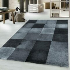 COSTA Impression Marmaris Design Laagpolig Vloerkleed Zwart / Grijs- 160x230 CM