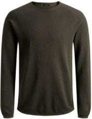 Groene Jack & Jones - JJEHILL KNIT CREW NECK NOOS - Olive Night - Mannen - Maat XXL