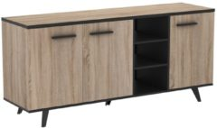 Young Furniture Dressoir Piano 160 cm breed - Eiken met zwart