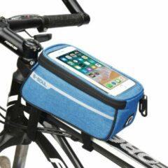 Sports4you Frametas voor Smartphone - Telefoonhouder Fiets - Universele Fietstas - Extra Opbergruimte - Powerbank | Blauw