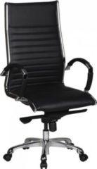 AMSTYLE Bürostuhl SALZBURG 1 Bezug Echtleder Schwarz Schreibtischstuhl XXL 120kg Chefsessel höhenverstellbar Drehstuhl