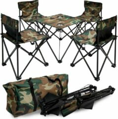 AMANKA Camping tafel Camouflage 4 stoelen epr-yu-113
