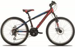 Montana Bike 24 Zoll Mountainbike Montana Spidy 21... schwarz-rot