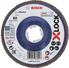 Bosch Accessoires X-LOCK Lamellenschijf Best for Metal recht, kunststof, Ø125mm, G 80, X571 - 10 stuk(s)