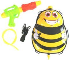 Funny Toys Waterpistool Met Tank 35,5 Cm Zwart/geel 5-delig
