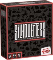 Zwarte Shuffle dobbelspel Silhouetters 12,5 x 11,5 x 4,5 cm 5-delig