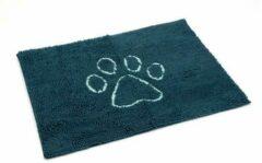 Grijze Dog gone smart Dirty dog droogloopmat. Blauw. 88 x 68 cm.