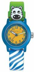 Esprit outlet Esprit Kids ES106414032 Cutie Face - Horloge - Leer - 28 mm - Blauw