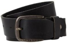 Zwarte Jack & Jones Men's Paul Leather Belt - Black - S (80cm) - Zwart