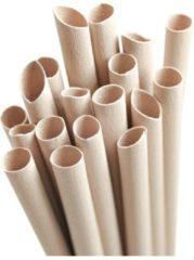 Naturelkleurige Pandoo Wegwerp Bamboe rietjes