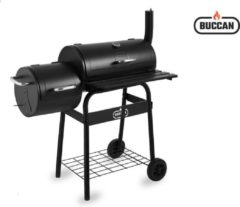 Buccan BBQ - Bunbury Double Barrel Barbecue - Dubbele Smoker - Zwart