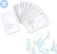 IVISmile Teeth Whitening Strips (28 strips) met Biologisch Katoenen Washand - Tanden Bleken Strips - Witte Tanden Strips - Tanden Witten - Tandenbleken - Tanden Witter Maken - Tandenbleekset - Tanden Bleker – 0% Peroxide - Mintsmaak