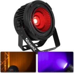 Zwarte BeamZ COB50 LED spot met 50W zéér felle LED