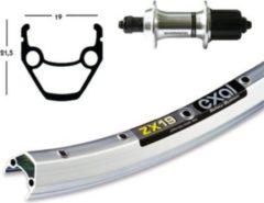 """Bike-Parts Hinterrad 26"""" Exal ZX-19 gespeicht 36 Loch, Nabe Shimano TX800 8/10-fach, silber (1 Stück)"""