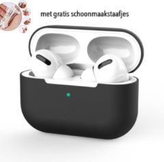 Coverz Siliconen Case Apple AirPods Pro zwart - AirPods hoesje zwart - AirPods case