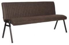 Antraciet-grijze Budget Design Store LABEL51 - Eettafelbank Matz 175 cm - Microvezel - Antraciet