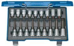 Gedore 6138510 Torx Dopsleutel-bitinzetset 18-delig 1/2 (12.5 mm)