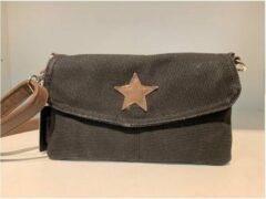 Taupe Azone By Versteegh Damesmode accessoires tassen Dames Clutch Zwart