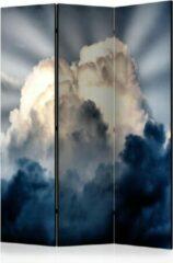 Blauwe Kamerscherm - Scheidingswand - Vouwscherm - Rays in the sky [Room Dividers] 135x172 - Artgeist Vouwscherm