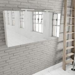 Zaro Beam mat witte spiegelkast 150x70x16cm 3 deuren