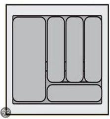 Zilveren Hettich Bestekbak Organiser universeel inzetbaar, 401 - 450 mm breed, 380 - 440 mm diep.
