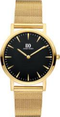 Gouden Danish Design watches edelstalen dameshorloge London Black Gold Medium Mesh IV06Q1235