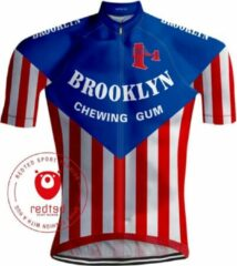 Retrowielershirts Retro Wielershirt Brooklyn - REDTED (XL)