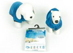 Duvo+ Honden badjas - Dierenkleding - Blauw - 58 cm