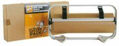 Grijze Papierrolhouder en Afscheurapparaat Tot 50cm Cleverpack - Pakpapier afrolapparaat - folie rol houder - snijapparaat cadeaupapier - robuust van zware kwaliteit