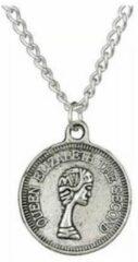 Yada Ketting Ronde Coin Munt Dollar - Zilver