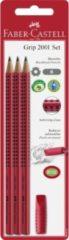 Potloodset Faber-Castell GRIP 2001 rood