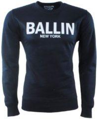 Marineblauwe Ballin - Heren Trui - Sweat - Navy