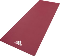 Bordeauxrode Adidas yoga mat 8mm mystery ruby