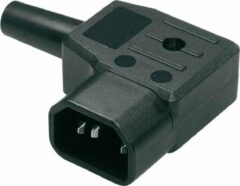 Zwarte Bachmann C14 connector - haaks