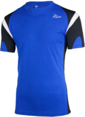 Blauwe Rogelli Running T-Shirt Dutton Kobalt/Zwart/Wit XL