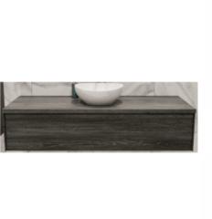 Boss & Wessing Badkamermeubel BWS Madrid Washed Oak 150 cm met Massief Topblad en Keramische Waskom (1 kraangat)