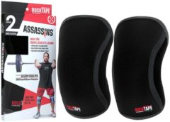 RockTape Assassins Knee Sleeves - Kniebraces - Zwart - 7 mm - XL