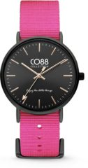 CO88 Collection Watches 8CW 10020 Horloge - Nato Band - Ø 36 mm - Roze