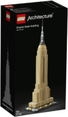 Zilveren LEGO Architecture Empire State Building - 21046