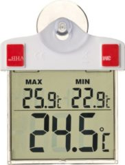 Transparante Nature Raamthermometer digitaal 13x10x3 cm 6080078