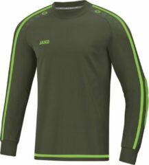 Jako Striker 2.0 Sportshirt - Maat 140 - Unisex - olijfgroen/geel