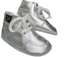 Zilveren Baby Paws babyslofjes Sydney Zilver maat 2 = ( 11,2 cm)