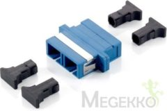 Equip SC Fiber Optic Coupler, Single-mode Duplex (156131)