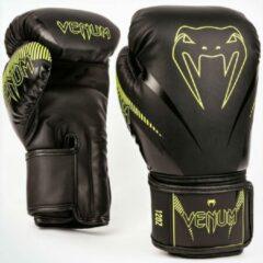 Venum Impact Muay Thai Bokshandschoenen Zwart Neo Geel maat 16 OZ